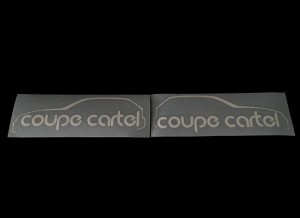 Coupe Cartel Sticker Mirrored