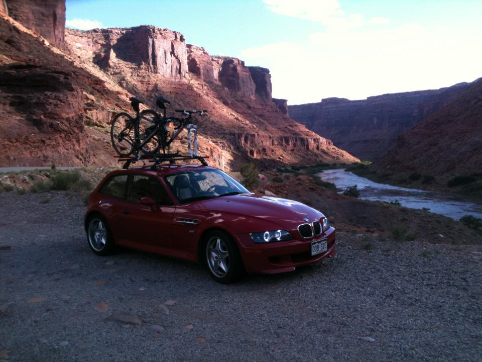 Imola Red M Coupe with Roof Rack in Moab, Utah