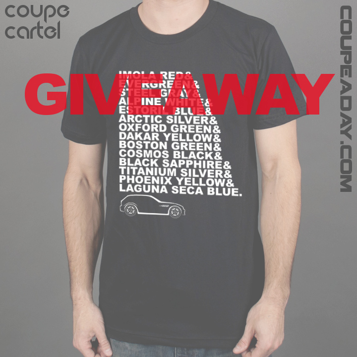 M Coupe Colors Shirt Giveaway
