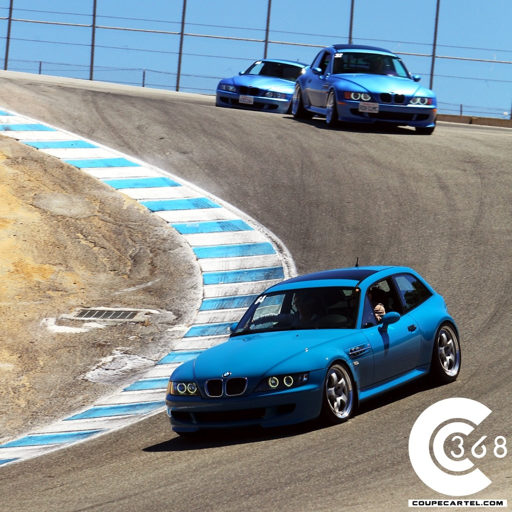Dorkfest at Mazda Raceway Laguna Seca 2002 M Coupe Laguna Seca Blue Corkscrew