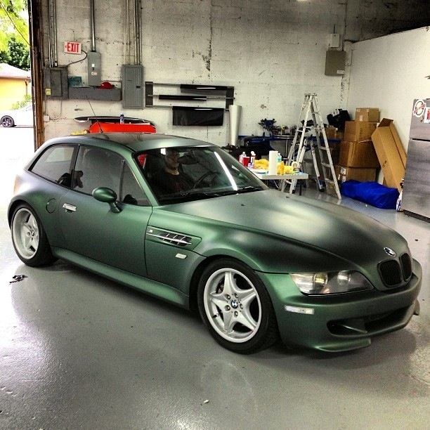 Pine Green Vinyl Wrapped M Coupe Coupe Cartelcoupe Cartel