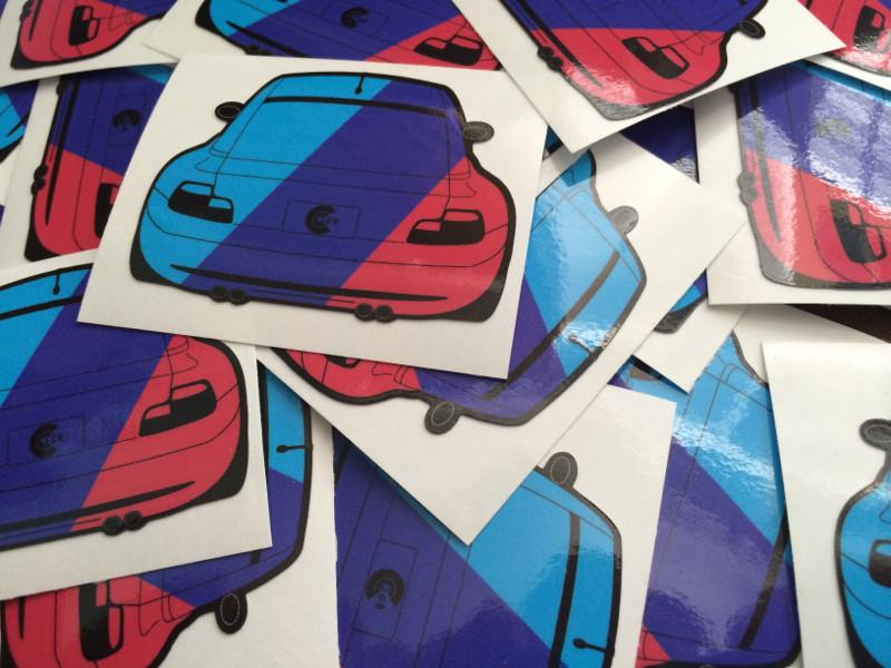 M Coupe Stripes Sticker